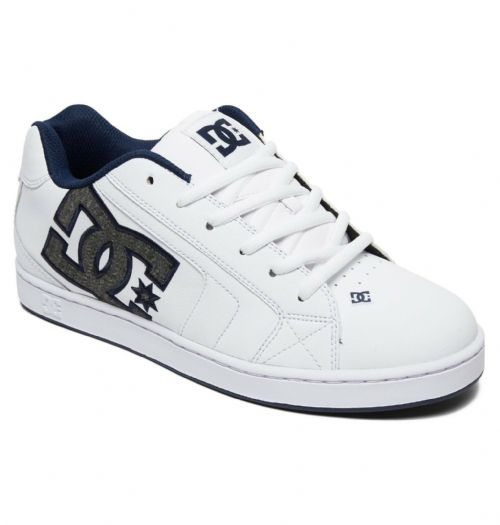 DC SHOES MENS TRAINERS.NEW NET SE WHITE LEATHER SKATE RUBBER SOLE SHOES 9S 297 H
